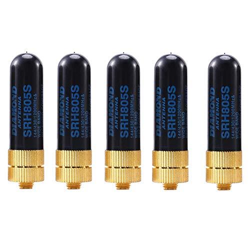 Andifany 5PCS/LOT Dual Band UHF+VHF SRH805S SMA Female Antenna for uv-5r BF-888s uv-82 UV-5RA uv-5re TK3107 2107 10W 144/430MHz