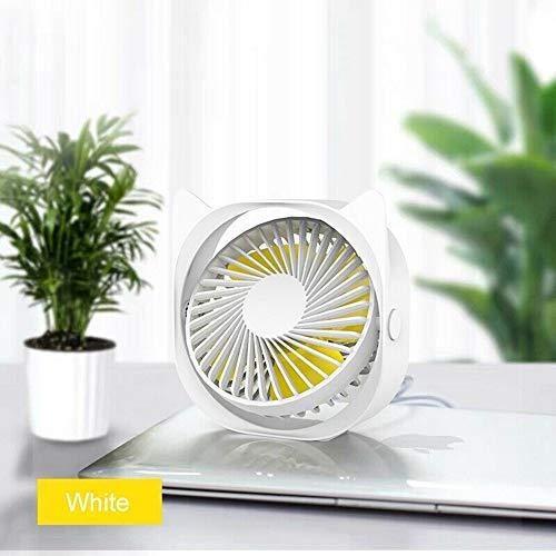 Ventilador De Mesa,Lindo Gato Orejas Amarillo 360° De Rotación Del Ventilador De Refrigeración Del Mini Portátil Ventilador De Escritorio Usb Ventilador De 3 Velocidades Para Oficina Alquiler Cas