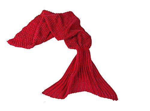 OOTB Kuscheldecke, Meerjungfrau, 100 % Polyacryl, 140 x 70 cm, Rot