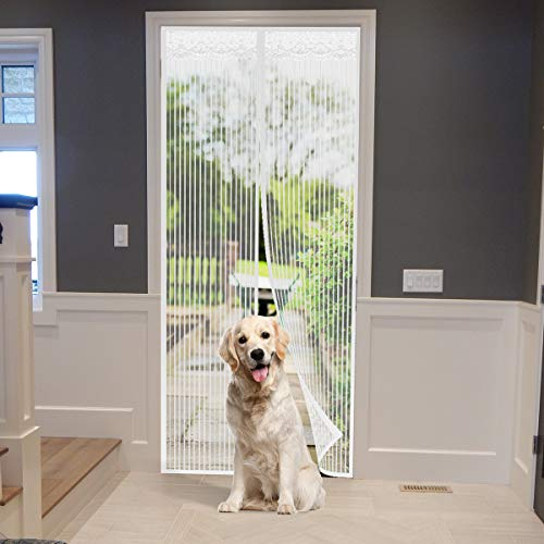 Magnetic Fly Insect Screen Door, Mesh Curtain - Keeps Mosquitoes Insects Out 35' x 82' Max
