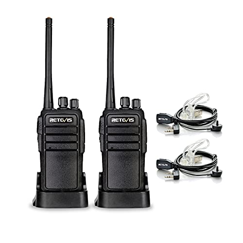Retevis RT21 Walkie Talkies for Adults Long Range Rechargeable 16CH VOX Two Way Radio with Earpiece for Camping Hunting(2 Pack)