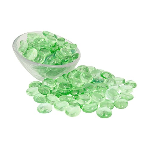 Artisan Supply Lime Glass Gems 5 Lbs. - Fills 1 ½ Quarts Vol. -Non-Toxic Lead Free Vase Filler, Table Scatter, Aquarium Fillers - Beautiful, Smooth, Fun, Vibrant Colors Crafted in The USA