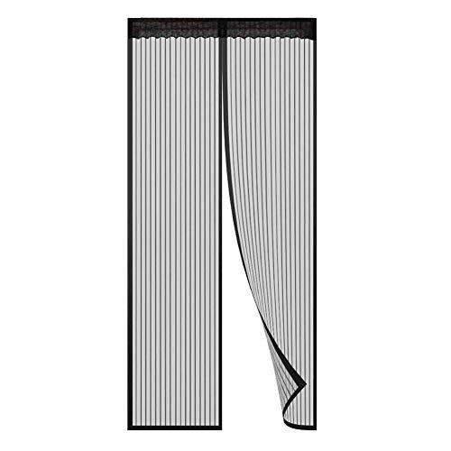 BJ-SHOP Mosquitera Magnetica para Puertas,Mosquitera Puerta Sellar con Marco de Velcro Completo y Cierre Automatico de Imanes para Puertas de Windows 100 x 210 cm