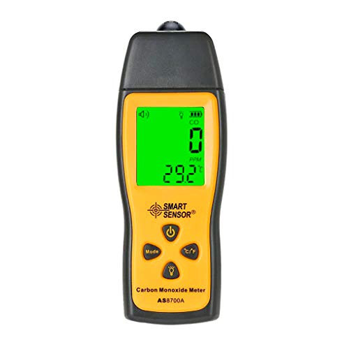 Handheld Carbon Monoxide Meter Portable CO Gas Leak Detector High Precision CO Detector Gas Analyzer CO Gas Monitor Tester 1000ppm Battery Included