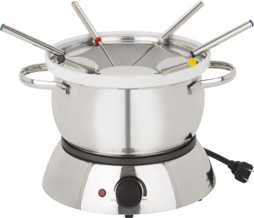 Trudeau 0829020 Alto 3-in-1 Electric Fondue Set, 11-Piece, Silver