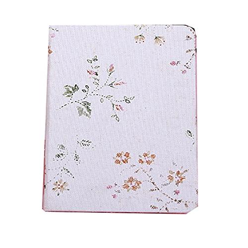 FACHAI Bloc de notas A5 de material de lino, hojas en blanco para hacer bloc de notas, calendario, cuaderno y bloc de notas de 18 x 13 cm, color blanco