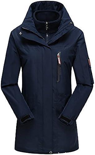 FYM Vestes DYF Ski Hommes Femmes Down veste Coat Couleur Unie Grande Taille Manches Longues col,W-Masquer Bleu,XXXL