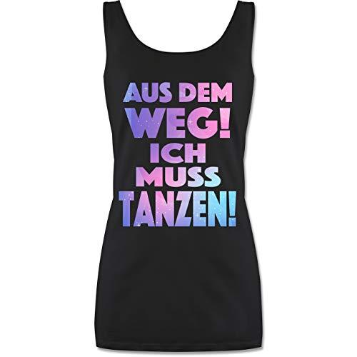 Shirtracer Festival - Aus dem Weg! Ich muss tanzen! - S - Schwarz - Tanktop Festival schwarz Damen - P72 - Tanktop für Damen und Frauen Tops