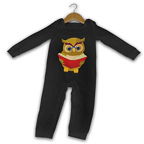 WushXiao Owl Sayings Long Comfort Baby Crawler Negro