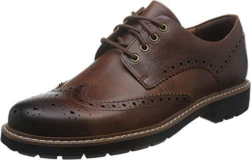 Clarks Herren Batcombe Wing Derbys, Braun (Dark Tan Leather), 43 EU