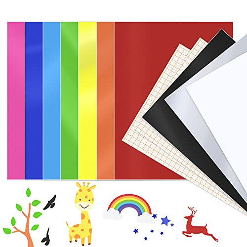 Permanent Adhesive Vinyl Sheets (12 Packs, 12'x10') 10 Vynil Sheets & 2 Transfer...