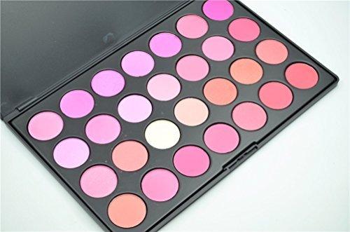 Pure Vie® 28 Couleurs Palette de Maquillage Blush Fard à Joues Poudre Cosmétique Set - Convient Parfaitement pour une Utilisation Professionnelle ou à la Maison