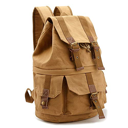 Waterproof Camera Bag Digital Waterproof Men's And Women's Multi-function SLR Camera Bag Micro Single Portable Backpack 2 Colors Camera Backpack (Color : Khaki, Size : 40x20x30CM)