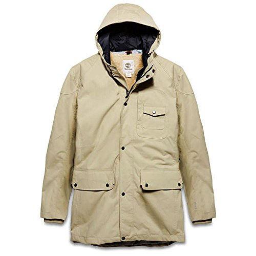 Timberland Mens Winterjacke Parka Rollins 2 in 1 (Mdium, Sand)