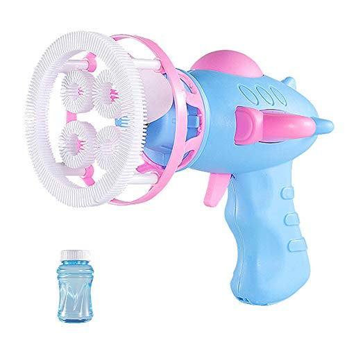 Acutty Bubble Machine for Kids, Plastic Electric Automatic Bubble Machine Fan Blower Maker Kids Playing Toys for Party Favors, Summer Toy, Outdoors Activity, Easter, Birthday Gift