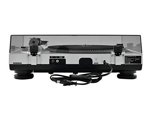 Omnitronic BD-1350 Platine Disque DJ à Entrainement Courroie Noir
