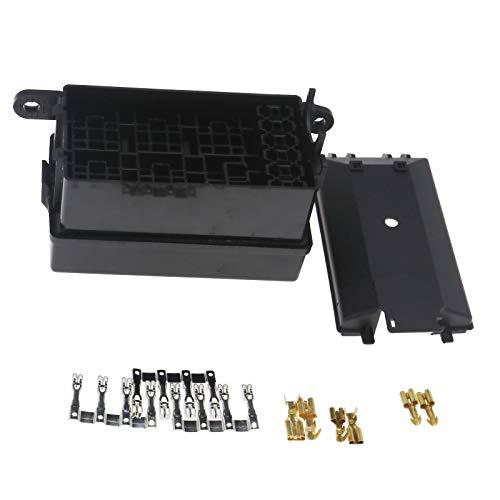 ENET Soporte universal de la caja del zócalo del fusible con 41pcs reemplazo del terminal para el seguro del coche ATV