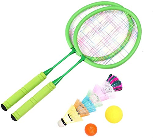 RENFEIYUAN Conjunto de Bolas de bádminton Badminton Kids Sport Equipment Set para Junior Tennis Racquet Play Game Juguetes de Playa Badminton Raqueta