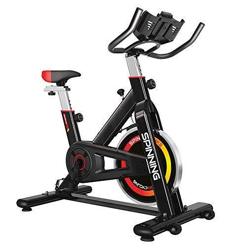 gridinlux - Bicicleta Spinning para Todos los usuarios. Pantalla LCD. Pulsómetro. Resistencia Variable.