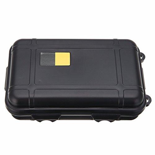 manyi Étanche en Plastique Antichoc Outil Boîtes Protection Case Petit/Grand Taille (Black, L)