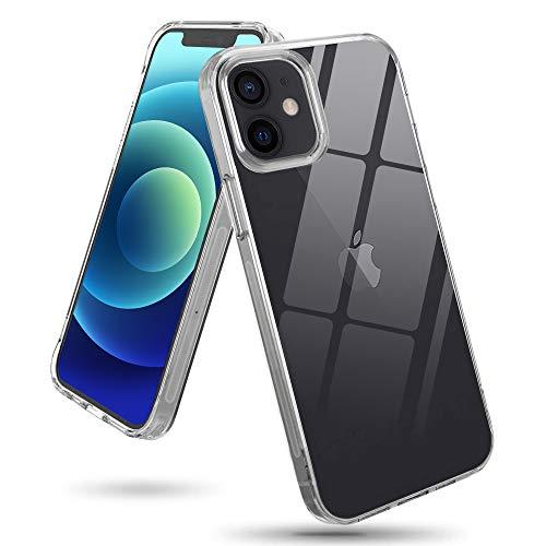 wsky Hülle für iPhone 12/ iPhone 12 Pro (6,1 Zoll), Durchsichtige Dünne Handyhülle, Anti-Kratzer Schock-Absorption, Anti-Gelb, Silikon-Hülle für iPhone 12/ iPhone 12 Pro