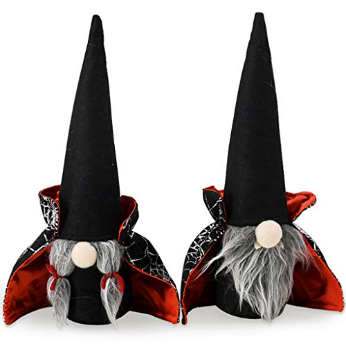 Gnomos de Halloween Decoración de felpa hecha a mano Tomte Witch Manto de Gnomo Sueco Decoración Temporada de Graduación Día de la Madre Regalo de Pascua