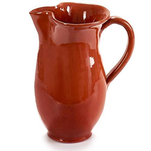 Tonkrug zum stilvolle Servieren - Karaffe - Krug - Wasserkrug - Weinkrug - Wikinger-Krug Größe 1,0 Liter