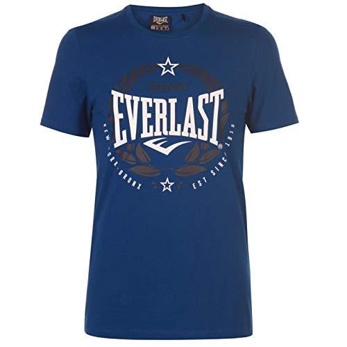 Everlast - Camiseta de cuello redondo para hombre, diseño de laurel Azul azul M