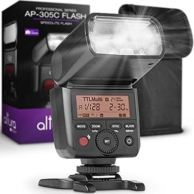 Camera Flash Speedlite Altura Photo AP-305C for Canon EOS R RP 90D 80D 70D SL3 SL2 Rebel T7 T7I T6 T6I 5D 6D 7D M5 M6 M50 M100 M200-2.4GHz E-TTL Light for Mirrorless and DSLR Camera