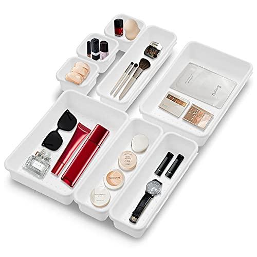 8 st lådor organisatör, tvättbar förvaringslåda, sminkförvaring för badrum, multifunktionell förvaringslåda, kontor och hemförvaringslåda, förvaringslåda för hemmet