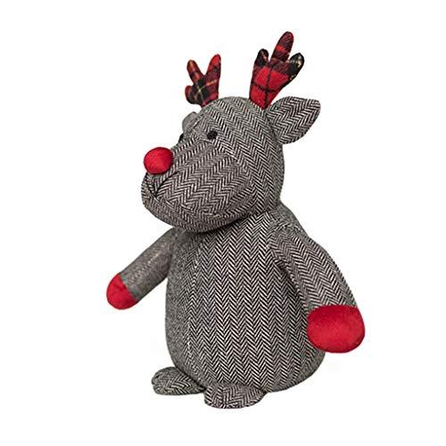 Sxy Topes de Puerta Tapones Puerta Topes Animal de la Historieta Tope de la Puerta de Navidad Elk muñeca Tope de...