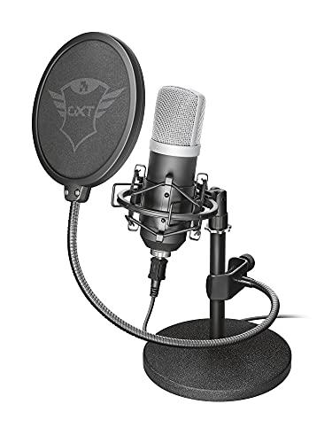 Trust Gaming GXT 252 Emita Microfono Professionale USB da Studio di Registrazione, con Treppeiede, per PC, PS4 e PS5, Nero