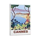 Cannes Poster, dekoratives Gemälde, Leinwand, Wandkunst,