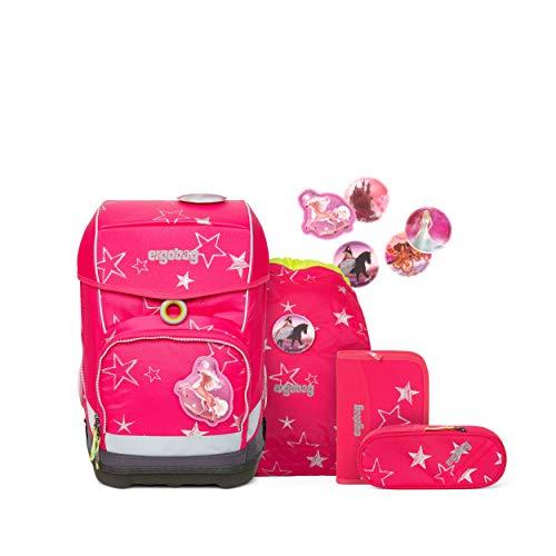 ergobag cubo light Set - ergonomischer Schulrucksack, extra leicht, Set 5-teilig, 780 g - CinBärella - Pink
