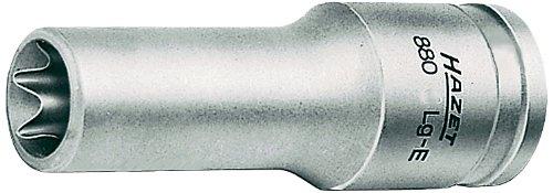 Hazet 880Lg-E12 Inserto Chiave a Bussola Torx, Argento, Attacco Quadro, Cavo, 10 mm 3/8 di Pollice