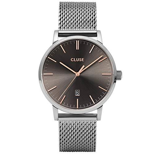 Cluse Herren-Uhren Analog Quarz One Size Silber/anthrazit 32010377