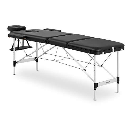 physa Camilla De Masaje Plegable Maleta Para Estética BORDEAUX BLACK (Estructura de aluminio, Tapicería en PVC, Altura de reposo: 60-81 cm)