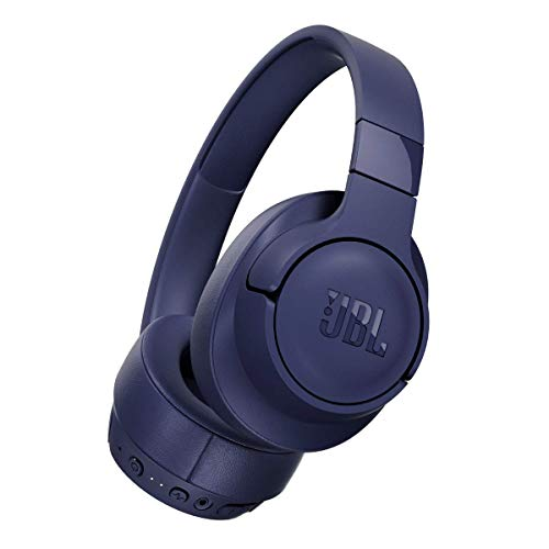 JBL TUNE Wireless Noise-Cancelling Headphones - Blue - JBLT750BTNCBLUAM (Renewed)