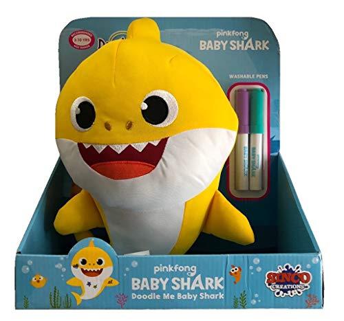 Baby Shark - Baby, pinta y limpia 30cm