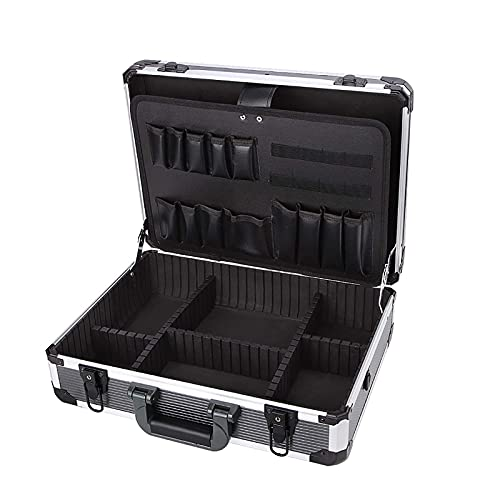 XBSXP Estuche rígido de Aluminio para Caja de Herramientas Estuche portátil para Transporte Maletín Estuches de Vuelo Estuche para Herramientas Organizador Caja de Herramientas Caja de a