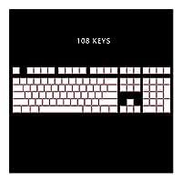 メカニカルキーボード ANSI ISOプロフィールプリンキーセットのための機械的なキーボードを通じ108 PBTダブルショット磨き,耐久性のあるゲーミングキーボード (Color : White Pink 108keys)