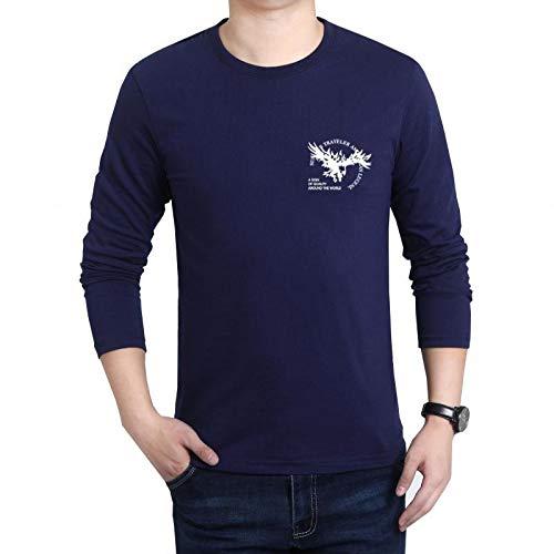 HOSD T-Shirt da Uomo Manica Lunga Girocollo Taglie Forti Camicia da Uomo Sciolto