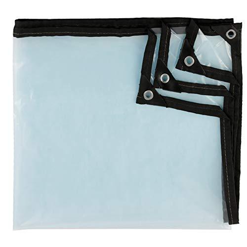 Lonas Lona transparente Impermeable Espesar A prueba de lluvia Lonas impermeables Cubiertas de la sábana baja Cobertizo de tela Plegable (Tamaño : 2MX2M)