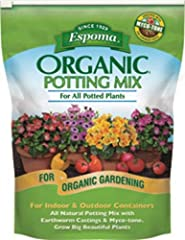 All natural potting mix enhanced with myco-tone for all Potted plants Improves moisture retention and reduces drought stress Promotes root growth For all indoor and outdoor containers Potting soil For all indoor and outdoor containers Enhanced with M...