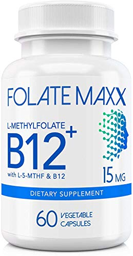 FolateMaxx LMethylfolate 15 MG  B 12 Blend 60 ct ✅ Professional Top Quality Active Folate ✅ NonGMO Gluten Free ✅ Methyl Folate 5MTHF