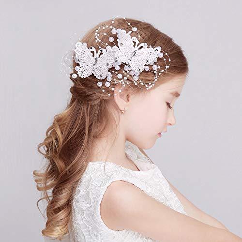 2 uds, horquillas para el pelo de mariposa blancas rojas clásicas, accesorios para el cabello de boda de princesa, pinza de pelo para niña de moda, joyería para el cabello para niña
