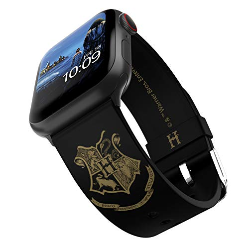 Harry Potter - Correa para reloj inteligente Hogwarts Gold - Licencia oficial, compatible con Apple Watch (no incluido) - Se adapta a 38 mm, 40 mm, 42 mm y 44 mm