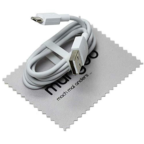 Cable de datos para cable de carga original Huawei P10 Lite, P Smart 2019, P9 Lite, P8 Lite, P8lite 2017, Y3, Y5, Y6 Prime, Y7, Y9 con paño de limpieza de pantalla Mungoo