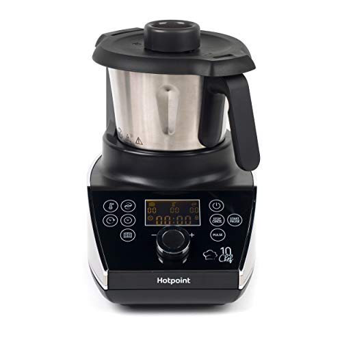 Hotpoint F100194 Ultimate Collection 10 Chef Multi-Cooker and Blender, 1.5 L, 570 W, Stainless Steel, Black