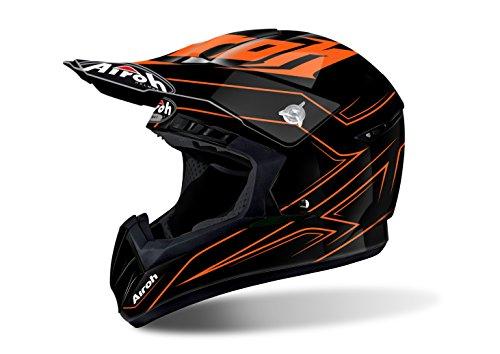 Airoh Motorrad Helme Switch, Orange, Größe S